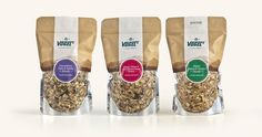"""""""Vogels is a New Zealand based brand with focus on high quality natural ingredients. Their new range of super-premium muesli features packaging design by BRR LTD. The design was inspired by New Zealand's landscapes with a contemporary twist."""""""