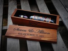 Personalized Wedding Wine Box, Wine box ceremony, wine ceremony, first fight box, wedding gift, 5th five year anniversary gift, shower gift