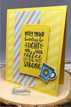 Spring Coffee Lovers Blog Hop with Verve Stamps | Creative Lady