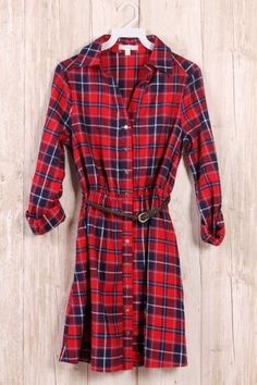 100%COTTON BUTTONED PRINT DRESS WITH BELT MADE IN CHINA