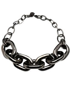 Large Gunmetal Chain Link Necklace - Ben Amun @ GetThis.tv $495