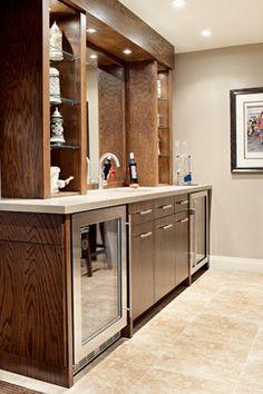 #Perlick C-Series Refrigerator (Mapleview Residence - eclectic - basement - toronto - Elizabeth Metcalfe Interiors & Design Inc.)