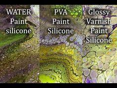 ( 111 ) Acrylic paint with...1.Water...2.PVA...3.Glossy varnish - YouTube