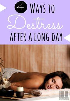4 Ways to Destress after a long day  #destress #lifestyle #tips