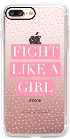 Casetify iPhone 7 Plus Case and other Pink iPhone Covers - Fight Like A Girl by Jande Laulu | Casetify