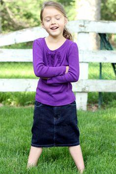 Jillissa Girls Jean Skirt, Sizes 4-18