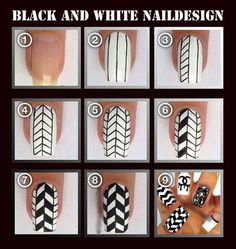 Black and White Naildesign
