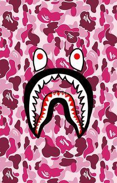 Shark Face Pink Camo
