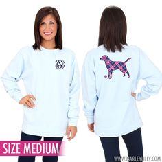 Monogrammed Comfort Colors Labrador Retriever Sweatshirt - SIZE MEDIUM