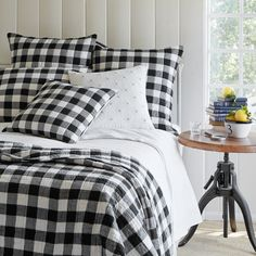 New from Taylor Linens - Parker Buffalo Check in black and white....beautiful!