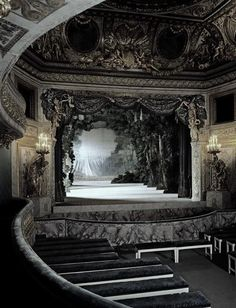 Marie Antoinette's Private Theater, Versailles, Paris, France.
