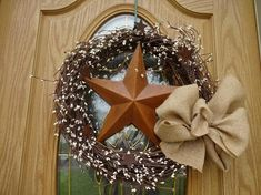Items similar to Primitive Wreath Farmhouse Wreath Pip Berry Wreath Front Door Wreath Wreath For Door Rusty Star Wreath Summer Wreath Gift on Etsy Lavender Wreath, Sunflower Wreaths, Berry Wreath, Grapevine Wreath, Primitive Wreath, Primitive Decor, Indoor Wreath, Poinsettia Wreath, Year Round Wreath