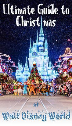 This Ultimate Guide to Disney Christmas 5 has tips for Mickey's Very Merry Christmas Party, Candlelight Processional, Osborne Lights, and everything else Walt Disney World has to offer at Christmas!