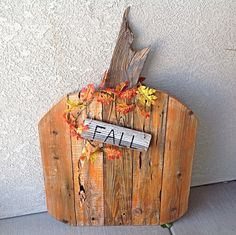 #pumpkin from scrap wood or pallets  Outdoor fall Decor