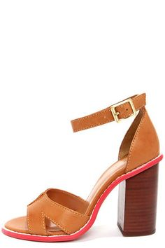 Kelsi Dagger Barcelona Cognac High Heel Sandals