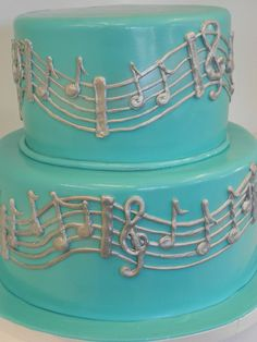Musical Notes. now you can take ur guitar and read the notes off ur cake and play 'em Lol