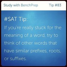 Root words - study tips, SAT