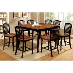 Found it at Wayfair - Tanner 7 Piece Counter Height Pub Dining Set