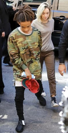 New romance: Jaden, 17, arrived at Kanye West's NYFW show on Wednesday with Sara