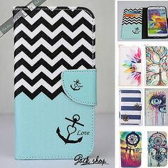 New Pattern Flip Wallet Phone Case for Samsung Note 4 Note 3 S5 iPhone 6 Plus 5S   eBay