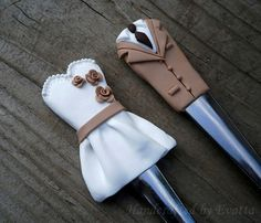 Wedding  cutlery forks by EviJewelry on Etsy