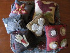 assorted wool pillows