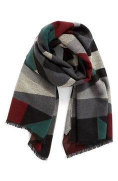 Free shipping and returns on La Double 7 Geo Block Scarf at Nordstrom.com. A geometric motif makes a bold, graphic statement on a cozy scarf tipped in delicate fringe.