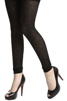 #Romwe Horizontal Zebra Black Tights