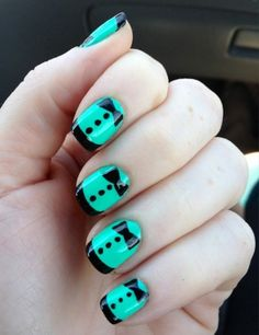 As the matron of honor for her sister's wedding, Danielle Smith got her nails done in a very dressy way that matched the wedding party's dresses.