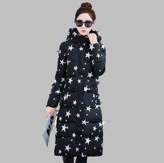 51bc373d105 Warm Hooded Long Winter Coat Women 2017 New Moda Mujer Zipper Black White Plus  Size Thick Casual Outwear Doudoune Femme Hiver