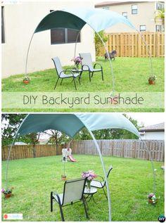 DIY Outdoor PVC Canopy Sunshade