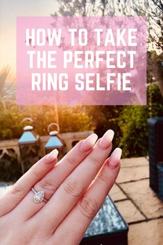 Just got engaged or married and want to show your engagement ring or wedding ring off? Tap this pin to learn how to take the perfect ring selfie! Engagement Ring Photos, Perfect Engagement Ring, Beautiful Engagement Rings, Wedding Planning Tips, Wedding Tips, Wedding Nail, Wedding Goals, Thing 1, Wedding Rings Simple