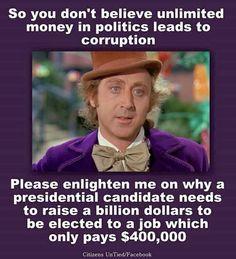 #BernieSanders2016! Bernie has us, he doesn't need billions to win