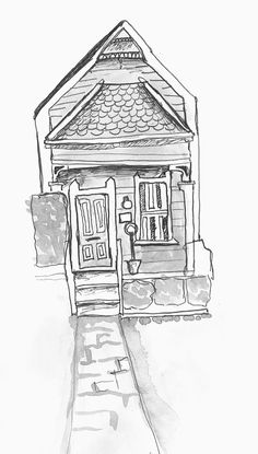 Small house drawing by me