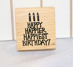 Vintage Birthday Cake word stamp by American Stamp Exchange Inside card words Birthday Sentiment, Phrase by MyCreativePossession on Etsy