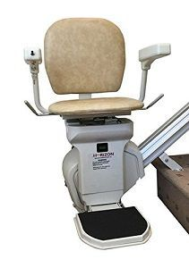 AmeriGlide Horizon Standard Stair Lift * Continue to the product at the image link. (This is an affiliate link) Steep Staircase, Stair Slide, Home Helpers, Stair Climbing, Powered Wheelchair, Emergency Lighting, Cool Chairs, Foot Rest, Aluminium Alloy