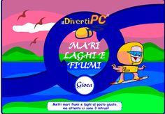 Gioco didattico su mari, fiumi e laghi d'Italia per la scuola primaria e secondaria di I grado.