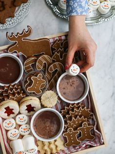 It is so cold in Vancouver right now that it makes me feel okay for posting a (belated) winter post. It has been snowing a lot . Speculoos Cookies, Cocoa Cookies, Christmas Tumblr, Marshmallow Snowman, Food Photography Tips, Polish Recipes, Polish Food, Winter Food, Tray Bakes