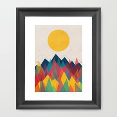 Uphill Battle Framed Art Print