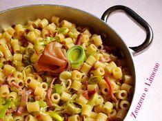 DITALONI PORRI E SPECK - #italianfood #pasta