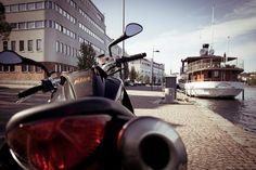 KTM Super Duke 990 at Kuopio harbour. Ktm Super Duke, Finland, Transportation, Motorcycles, Street View, Bike, Bicycle, Bicycles, Motorbikes