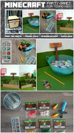 Minecraft Party Games ideas that are totally awesome for your next birthday party!