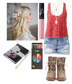 """Untitled #8"" by julia-hart ❤ liked on Polyvore featuring Forever New, Black Orchid, NARS Cosmetics, With Love From CA, Boho & Co, Louis Vuitton and Polite"