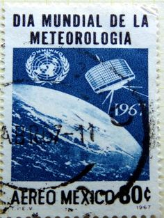 VINTAGE POSTAGE STAMP 1967 MEXICO SPACE SATELLITES EARTH FINE ART POSTER CC5470 | eBay