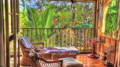 relaxing porch in the tropics hdr