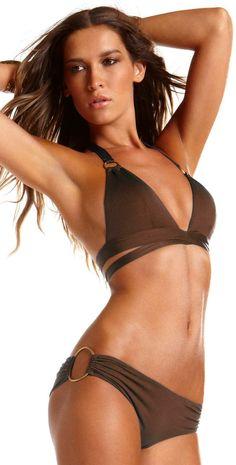 Vitamin A Gold 2013 Espresso Brown Siren Wrap Bikini 015TESP and 21BESP | South Beach Swimsuits