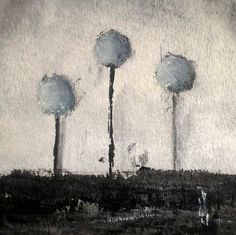 Beautiful Black and Grey Tree Painting. Art for Home Decor. Unique  Gift.  Whimsical . Minimalist. OOAK Gift. Tree Painting 245