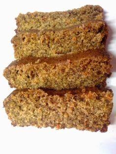 Budín vegano sin gluten de zanahoria, naranja y jengibre.