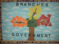 I created a branches of government bulletin board for student teaching. This was used for my 4th grade Social Studies unit plan I did for student teaching. Each branch of government got there own color of leaves and a different kind of leaf. Then after I taught a branch of government I had the students write a fact about the branch on the leaf. Then we put the leaves on the branch it belonged to on the bulletin board.