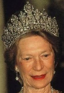 Tiara Mania: Luxembourg Empire Tiara worn by Grand Duchess Joséphine-Charlotte of Luxembourg